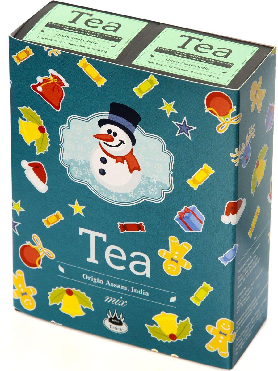 Подарочный набор Royal T-Stick: Mint Green Tea зеленый чай и Mint Green Tea зеленый чай в стиках, 30 шт78113Подарочный набор из 2- пачек чая премиум класса,упакован в коробку для транспортировки. Натуральный зеленый чай с ароматом мяты порадует вас своим тонким и нежным вкусом. Способствует расщеплению жиров и успокаивает нервную систему. Чай упакован в пищевую фольгу, которую можно использовать вместо ложечки для размешивания сахара. Опустите стик в кипяток, оставьте на 3 минуты, размешайте кусочек сахара. Достаньте стик из стакана, потрясите им о край стакана, так, чтобы стекли последние капли, и положите рядом. Вся влага останется внутри стика.Прекрасный подарок родным и близким,и отличный повод удивить коллег по работе и друзей, внедряя новую, элегантную культуру чаепития!