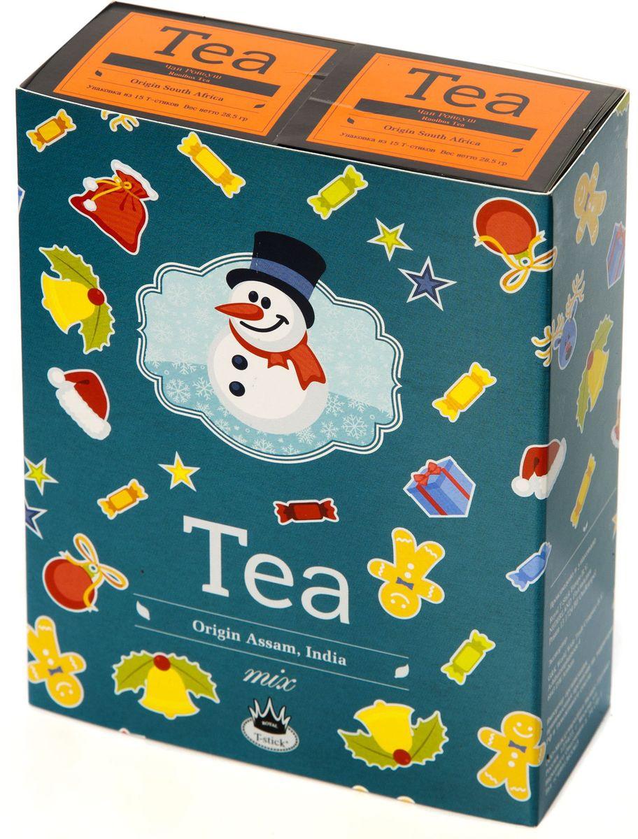 Подарочный набор Royal T-Stick: Rooibos Tea красный чай и Rooibos Tea красный чай в стиках, 30 шт78115Подарочный набор из 2- пачек чая премиум класса,упакован в коробку для транспортировки. Ройбош натуральный чай из листьев южноафриканского кустарника. Обладает сладковатым вкусом, с едва уловимыми ореховыми нотами. Чай обладает тонизирующим и бодрящим свойством. Снижает аппетит.Рекомендуется людям контролирующим свою массу тела. Чай упакован в пищевую фольгу, которую можно использовать вместо ложечки для размешивания сахара. Опустите стик в кипяток, оставьте на 3 минуты, размешайте кусочек сахара. Достаньте стик из стакана, потрясите им о край стакана, так, чтобы стекли последние капли, и положите рядом. Вся влага останется внутри стика.Прекрасный подарок родным и близким,и отличный повод удивить коллег по работе и друзей, внедряя новую, элегантную культуру чаепития!
