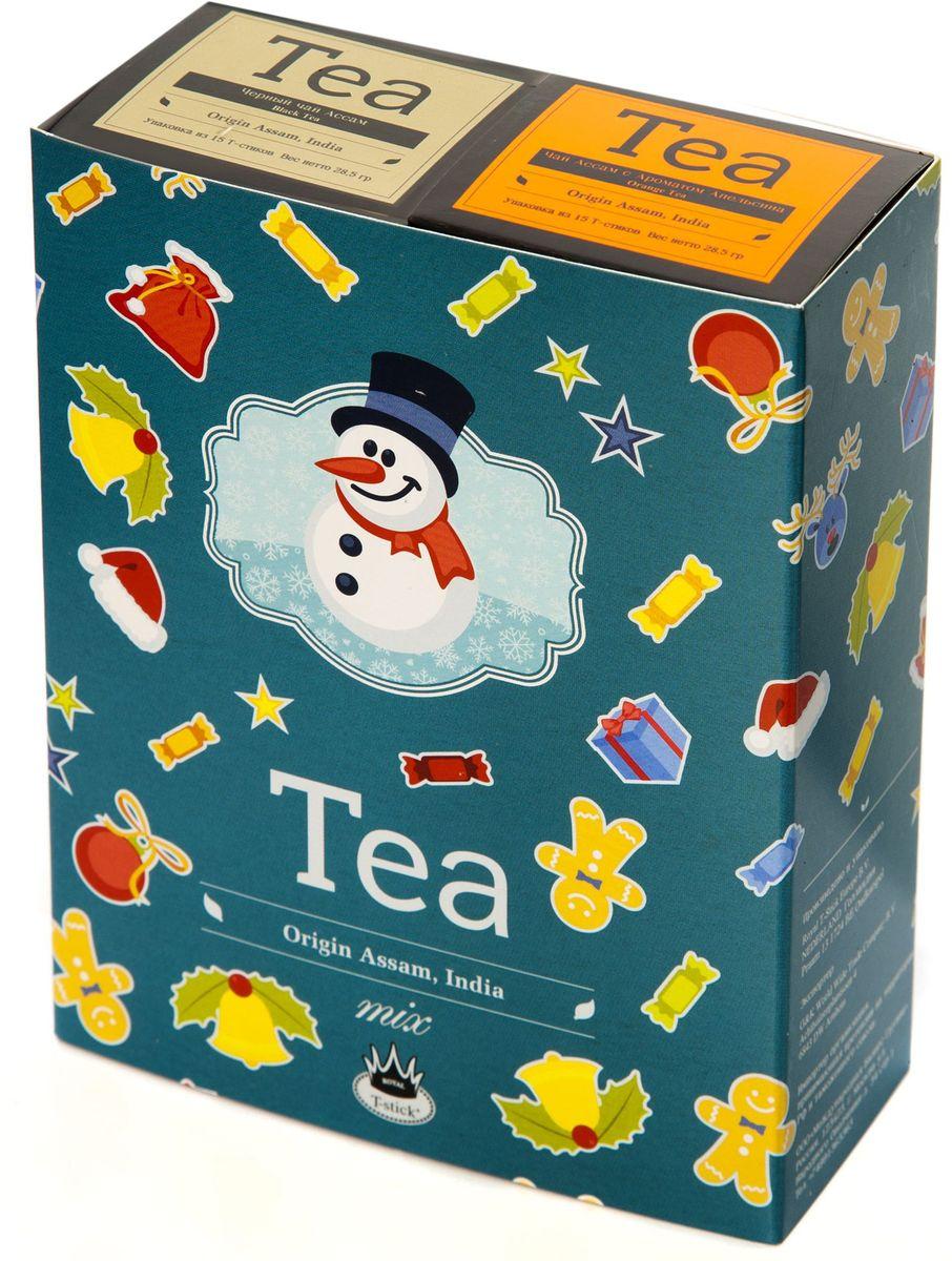 Подарочный набор Royal T-Stick: Orange Tea черный чай High Tea черный чай в стиках, 30 шт78128Подарочный набор из 2- пачек чая премиум класса,упакован в коробку для транспортировки. Натуральный черный чай с ароматом апельсина порадует вас золотисто-медовым цветом, тонким ароматом персика и изысканным пряным вкусом , который создается путем смешивания реальных кусочков апельсина и индийского чая из штата Ассам. Чай Ассам порадует вас насыщенным ,янтарно -красным цветом, терпким ароматом и пряным, солодово-медовым вкусом . Чай упакован в пищевую фольгу, которую можно использовать вместо ложечки для размешивания сахара. Опустите стик в кипяток, оставьте на 3 минуты, размешайте кусочек сахара. Достаньте стик из стакана, потрясите им о край стакана, так, чтобы стекли последние капли, и положите рядом. Вся влага останется внутри стика.Прекрасный подарок родным и близким,и отличный повод удивить коллег по работе и друзей, внедряя новую, элегантную культуру чаепития!