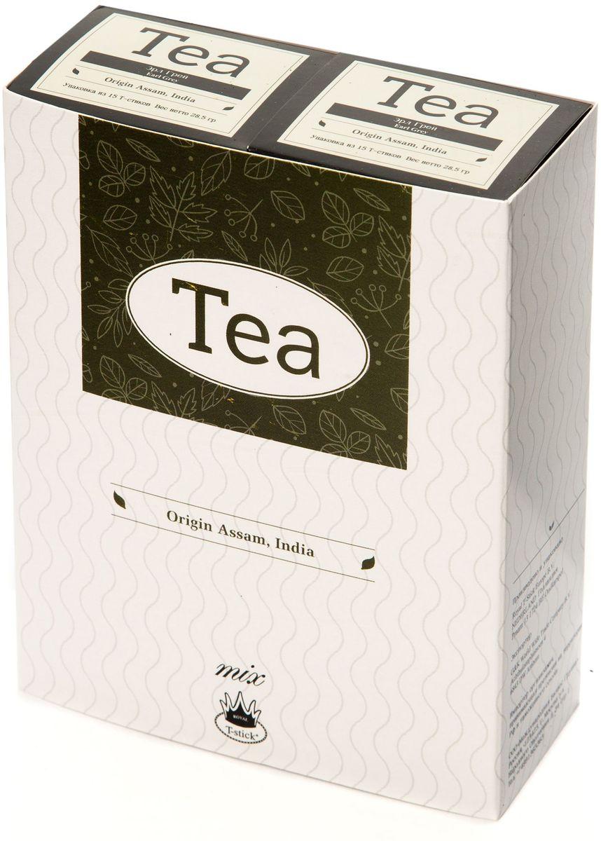 Подарочный набор Royal T-Stick: Earl Grey черный чай и Earl Grey черный чай в стиках, 30 шт78200Подарочный набор из 2- пачек чая премиум класса,упакован в коробку для транспортировки. Чай Ассам с бергамотом порадует вас насыщенным ,янтарно -красным цветом, терпким ароматом бергамота и пряным, солодово-медовым вкусом . Чай обладает тонизирующим свойством. Чай упакован в пищевую фольгу, которую можно использовать вместо ложечки для размешивания сахара. Опустите стик в кипяток, оставьте на 3 минуты, размешайте кусочек сахара. Достаньте стик из стакана, потрясите им о край стакана, так, чтобы стекли последние капли, и положите рядом. Вся влага останется внутри стика.Прекрасный подарок родным и близким,и отличный повод удивить коллег по работе и друзей, внедряя новую, элегантную культуру чаепития!