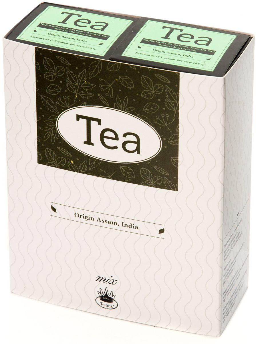 Подарочный набор Royal T-Stick: Mint Green Tea зеленый чай и Mint Green Tea зеленый чай в стиках, 30 шт78600Подарочный набор из 2 пачек чая премиум класса упакован в коробку для транспортировки. Натуральный зеленый чай с ароматом мяты порадует вас своим тонким и нежным вкусом. Способствует расщеплению жиров и успокаивает нервную систему. Чай упакован в пищевую фольгу, которую можно использовать вместо ложечки для размешивания сахара. Опустите стик в кипяток, оставьте на 3 минуты, размешайте кусочек сахара. Достаньте стик из стакана, потрясите им о край стакана, так, чтобы стекли последние капли, и положите рядом. Вся влага останется внутри стика. Прекрасный подарок родным и близким и отличный повод удивить коллег по работе и друзей, внедряя новую, элегантную культуру чаепития!