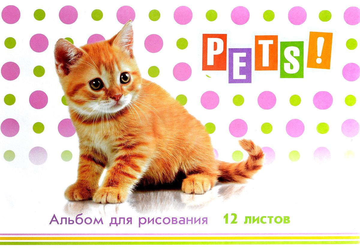 ArtSpace Альбом для рисования Питомцы Pets 12 листов