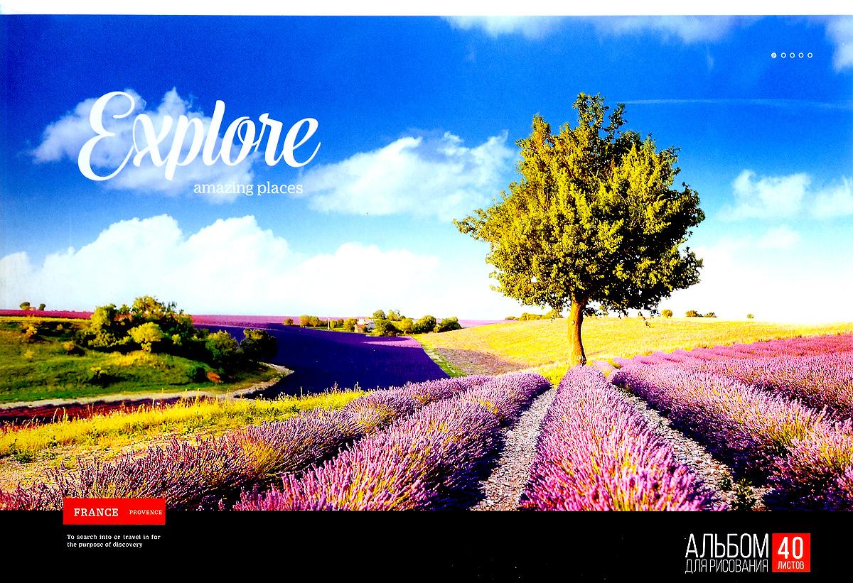 ArtSpace Альбом для рисования France Provence 40 листовА40_9091Альбом для рисования ArtSpace France Provence будет вдохновлять ребенка на творческий процесс. Альбом изготовлен из белоснежной бумаги с яркой обложкой из плотного картона, оформленной изображением поля. Внутренний блок альбома состоит из 40 листов бумаги. Тип скрепления альбома - склейка. Высокое качество бумаги позволяет рисовать в альбоме карандашами, фломастерами, акварельными и гуашевыми красками. Во время рисования совершенствуются ассоциативное, аналитическое и творческое мышления. Занимаясь изобразительным творчеством, малыш тренирует мелкую моторику рук, становится более усидчивым и спокойным.