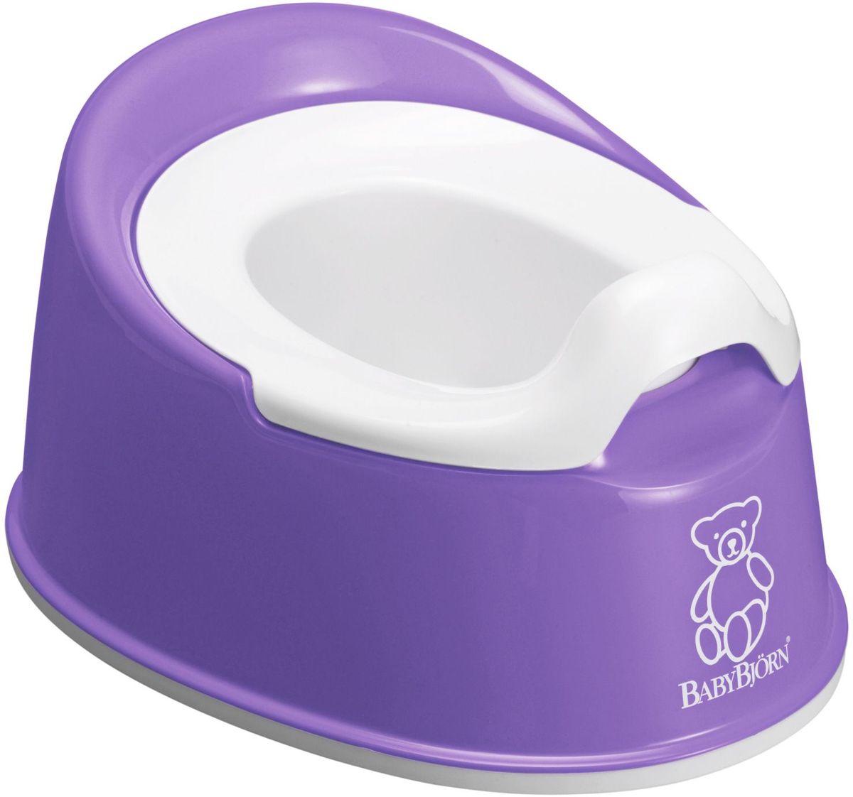 BabyBjorn Горшок детский Smart цвет лиловый0510.63BABYBJORN Smart Горшок отличается эргономическим дизайном и мягкими линиями, благодаря чему ребенку приятно и удобно им пользоваться. BABYBJORN Smart Горшок являет собой превосходное сочетание функциональности и удобства и идеально подходит для небольшой ванной комнаты. Он занимает мало места и его легко брать с собой. Действенная защита от брызг полностью предотвращает разбрызгивание. Внутренняя часть горшка легко вынимается, удобно мыть. Как и все наши пластмассовые изделия, он сделан из пластмассы, поддающейся утилизации и не содержащей ПВХ. В пластмассовых изделиях BABYBJORN не содержится бисфенол А (BPA). Размеры: 25,5 x 33 x 16,5 cm