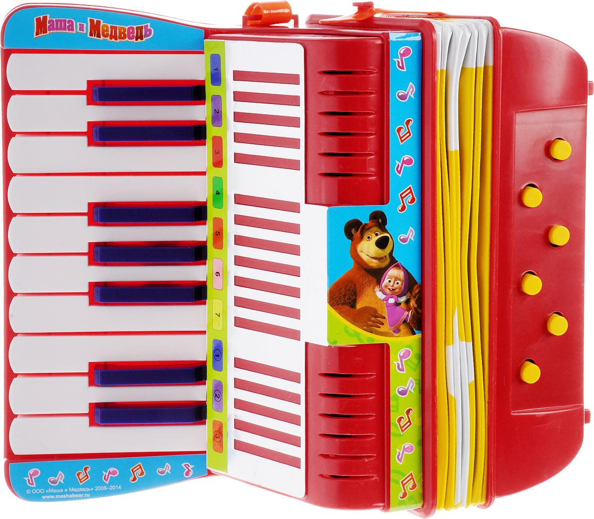 Играем вместе Аккордеон Маша и МедведьB88357-R2Если до настоящего аккордеона ваш малыш еще не дорос, подарите ему игрушечный! Аккордеон Играем вместе Маша и Медведь обязательно порадует вашего малыша своим видом, ведь он выполнен в стиле любимого многими малышами мультика. Эта яркая и веселая игрушка, с помощью которой вы сможете привить ребенку любовь к музыке. Аккордеон поможет развить слух, чувство ритма, артистизм и музыкальные способности малыша, и он порадует вас веселым концертом!