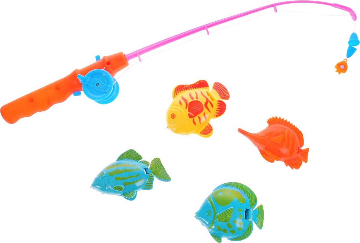 Играем вместе Игрушка для ванной Рыбалка Кот Леопольд цвет удочки оранжевый розовыйB1266659-RСезон рыбалки не заставил себя долго ждать. С игрушкой для ванной Кот Леопольд от торговой марки Играем вместе ребенок почувствует себя истинным рыбаком. В комплекте 4 разноцветные рыбки и удочка. Игровой набор отлично подходит для развития моторики рук, координации движений и фантазии. Ловля рыбок станет увлекательным занятием для ребенка.