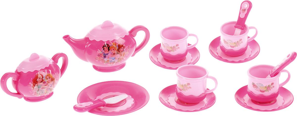 Играем вместе Игрушечный чайный набор Принцессы 14 предметовNF2853-RИгрушечный чайный набор Играем вместе Принцессы поможет девочке ощутить себя гостеприимной хозяйкой и пригласить подруг, а также их кукол на сказочное чаепитие. Набор посуды состоит из 14 различных предметов, которые могут быть необходимы для сервировки стола. В комплекте можно найти 4 чашки, 4 блюдца, сахарницу, чайник, тарелку и столовые приборы. Все предметы изготовлены из пластика и декорированы изображениями сказочных принцесс. Такой яркий набор посуды, несомненно, понравится девочке и ее подругам, и поможет организовать восхитительный прием гостей.