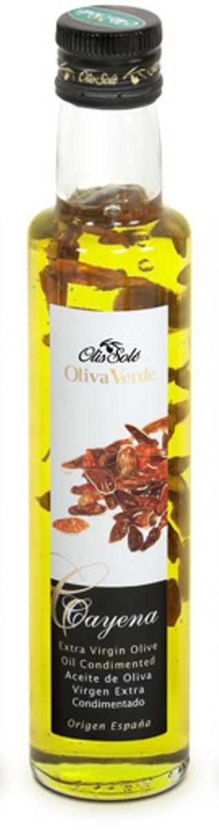 Olis Sole Оливковое масло Extra Virgin с кайенским перцем, 250 мл 8437001404339
