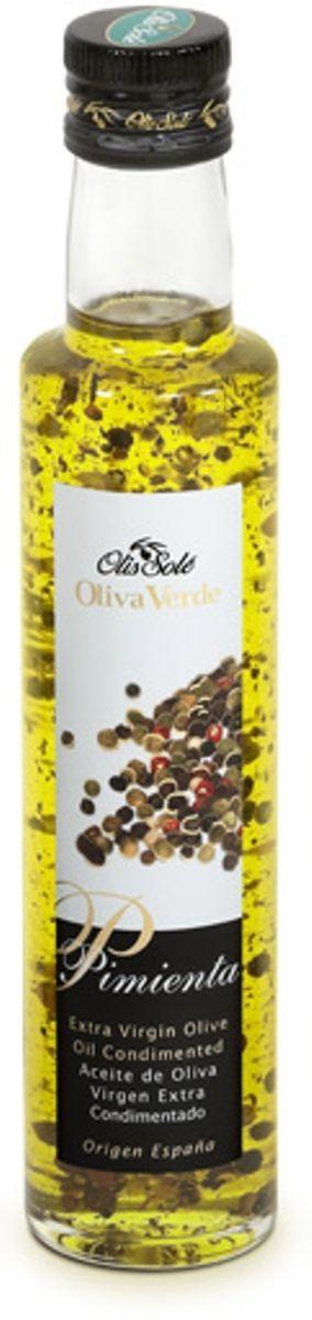 Olis Sole Оливковое масло Extra Virgin с 4 видами перцев, 250 мл