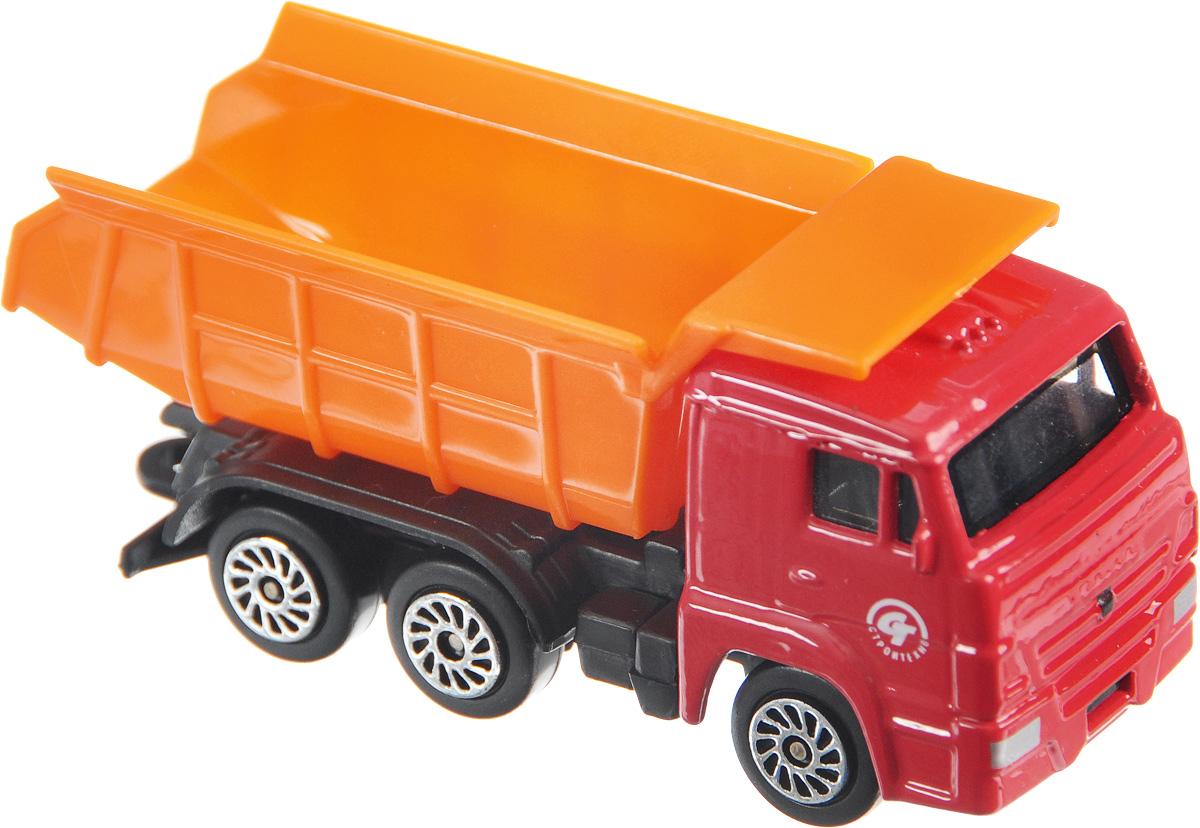 ТехноПарк Самосвал КамАЗCT12-439-WB_красный/оранжевый/2Самосвал ТехноПарк КамАЗ станет отличным подарком для мальчика. Машинка выполнена из металла с пластиковыми элементами, колеса машинки свободно вращаются. Малыш будет часами играть с этой замечательной игрушкой, придумывая разные истории. Сделайте вашему ребенку такой великолепный подарок!