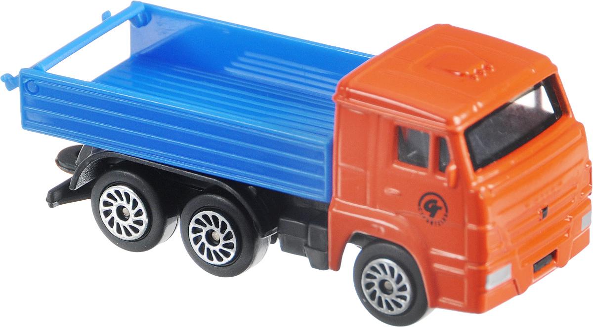 ТехноПарк Машинка КамАЗ 66CT12-439-WB_оранжевый/синий/2Машинка ТехноПарк КамАЗ 66 станет отличным подарком для мальчика. Машинка выполнена из металла с пластиковыми элементами, колеса оснащены свободным ходом. Малыш будет увлеченно играть с этой замечательной игрушкой, придумывая разные истории. Сделайте вашему ребенку такой великолепный подарок!