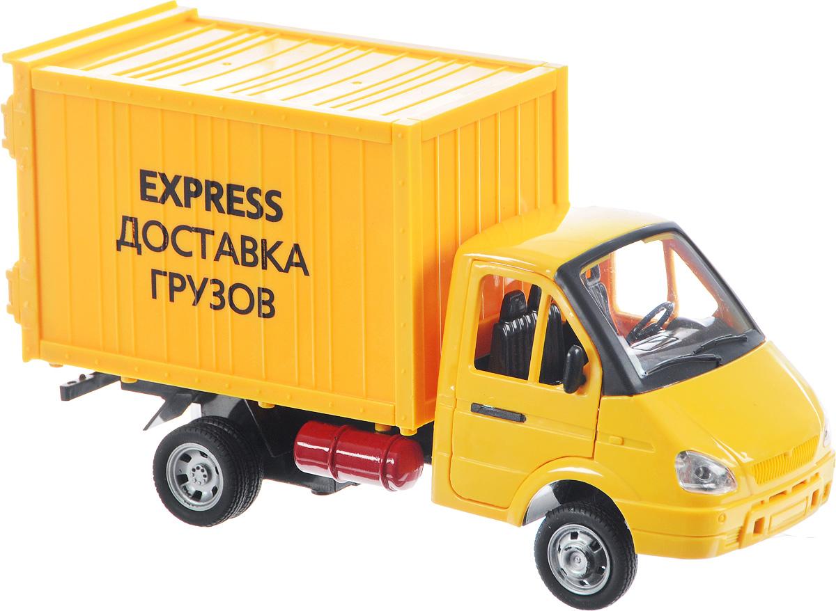 ТехноПарк Фургон инерционный Газель Доставка грузовA071-H11011-J006Инерционный фургон ТехноПарк Газель Доставка грузов имеет реалистичный внешний вид, ее корпус окрашен в яркий цвет. Как и в оригинальном автомобиле у игрушки открываются двери и кузов, кроме того, представленная модель обладает звуковыми и световыми эффектами, что делает игру с ней интереснее. Машина снабжена инерционным механизмом. Игрушка выполнена из качественных и безопасных материалов. Рекомендуется докупить 3 батарейки напряжением 1,5V типа LR44/AG13 (товар комплектуется демонстрационными).