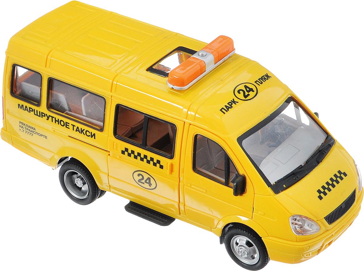 ТехноПарк Машинка инерционная Газель Маршрутное таксиA071-H11023-J006Машинка ТехноПарк Газель. Маршрутное такси без труда, быстро и с комфортом, домчит всех пассажиров! Великолепная детализация всех элементов игрушки, большая схожесть с настоящим маршрутным такси, а также световые и звуковые эффекты - все это придает огромную реалистичность в игре с машинкой. Благодаря инерционному механизму, достаточно немного подтолкнуть машинку вперед или назад, а затем отпустить, и она сама поедет в ту же сторону. Двери кабины и салона транспортного средства открываются. Играя с машинкой, ребенок развивает моторику рук, а моделируя игровые ситуации, еще отлично работает и его фантазия. Рекомендуется докупить 3 батарейки напряжением 1,5V типа LR44 (товар комплектуется демонстрационными).