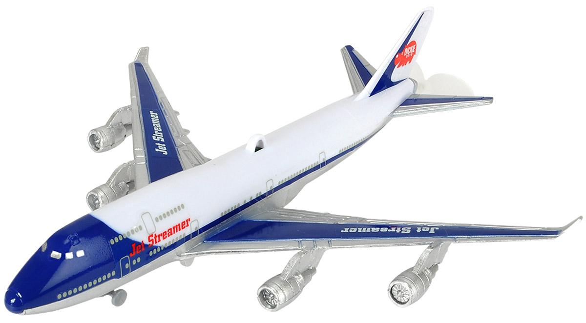 Dickie Toys Самолет подвесной к потолку3343004Самолет подвесной к потолку Dickie Toys имеет весьма реалистичный вид и расцветку, благодаря чему становится похож на уменьшенную копию пассажирского авиалайнера. Игрушка имеет звуковые эффекты, напоминающие работу двигателей. Помимо этого, самолет можно подвесить к потолку благодаря специальному креплению. Самолет будет летать по кругу под потолком, если к нему слегка прикоснуться. Необходимо купить одну батарейки напряжением 1,5V типа АА (не входит в комплект).