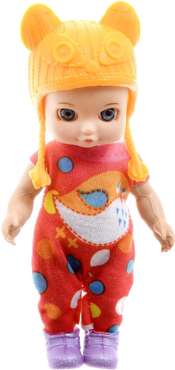 Карапуз Мини-кукла Машенька цвет наряда оранжевый розовый
