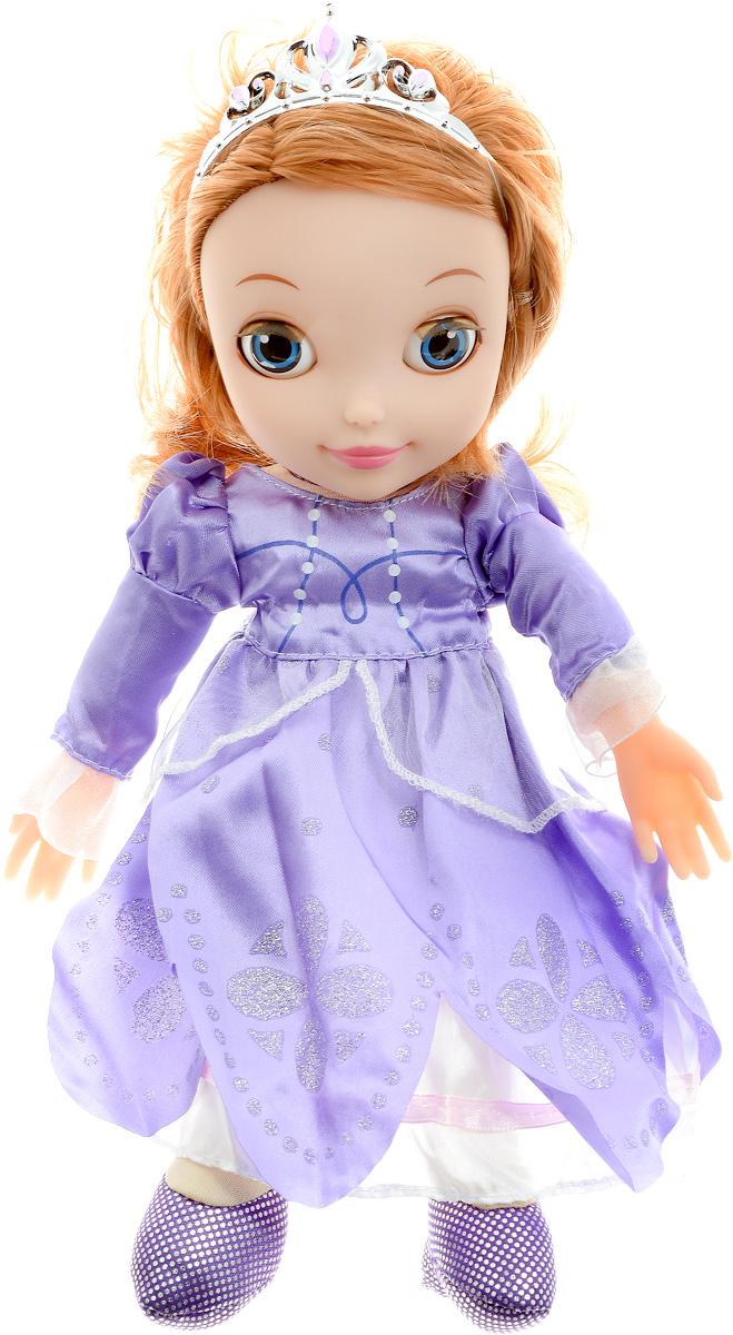 Мульти-Пульти Кукла озвученная София Прекрасная Моя маленькая принцессаSOFIA004Озвученная кукла Мульти-Пульти София Прекрасная. Моя маленькая принцесса - это мягкая кукла, изображающая известную диснеевскую принцессу Софию в детстве. Игрушка обладает звуковыми эффектами, для их воспроизведения нужно лишь нажать на куклу - это, без сомнения, делает игру еще более увлекательной. У куклы отлично проработаны и весьма узнаваемы черты лица, а также красивый наряд, под стать принцессе. Каждая принцесса когда-то была маленькой девочкой и мечтала о чуде. Окунитесь в мир сказки вместе со своей новой подругой - очаровательной Софией! Выполнена игрушка из качественных и безопасных материалов. Кукла работает от незаменяемых батареек.