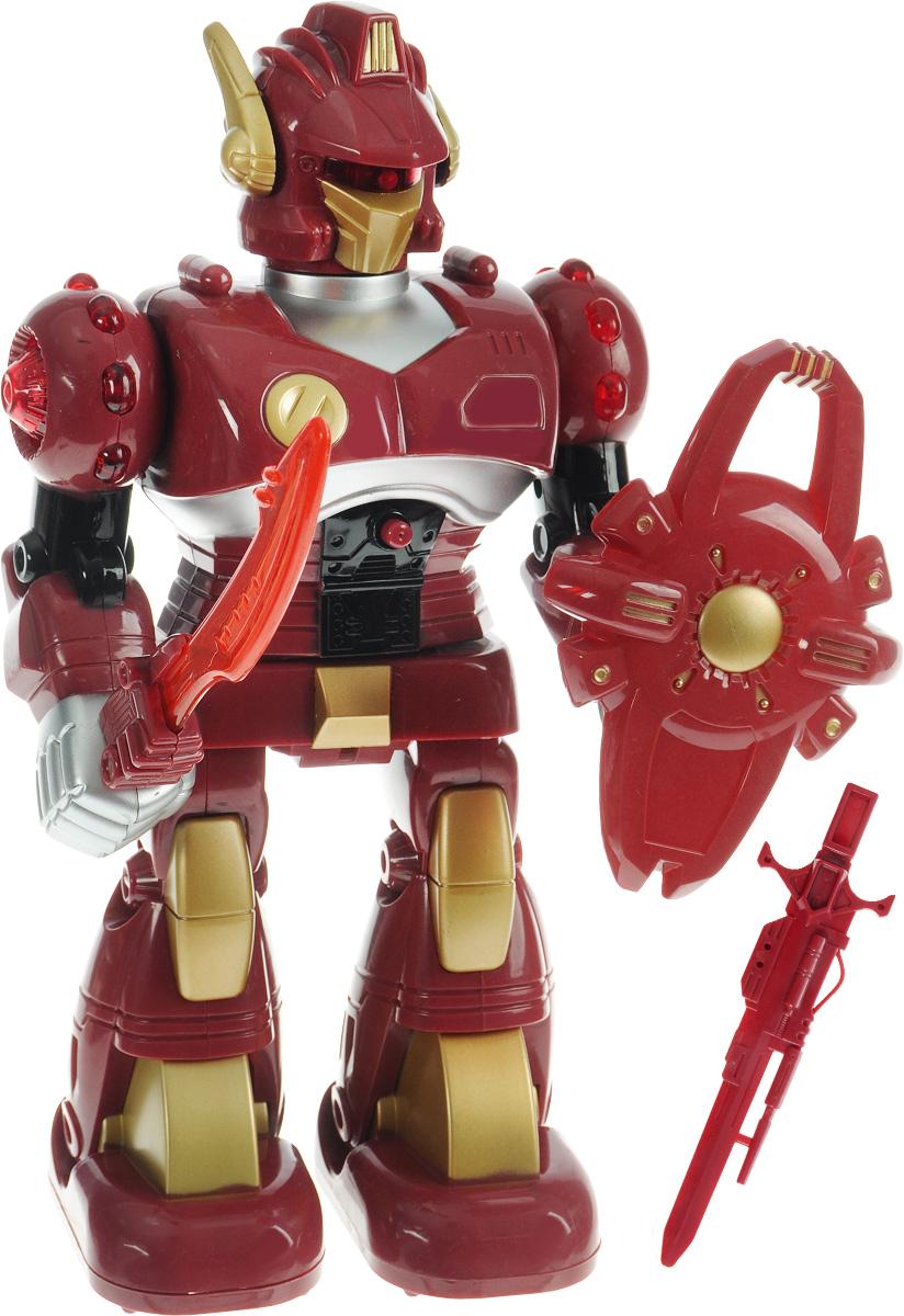 Играем вместе Космический роботK075-H05031-RКосмический робот Играем вместе приведет в восторг своего обладателя и подарит ребенку массу моментов веселой и интересной игры. Робот - обладатель тела из прочного и ударостойкого пластика, он умеет поворачиваться вокруг собственной оси, передвигаться вперед и поет песенку про робота. У него имеется оружие - меч, который светится в руке. Ваш малыш будет с удовольствием играть с новым космическим другом, развивая воображение, ловкость и образное мышление, а световые и звуковые эффекты игрушки придадут развлечению особую увлекательность. Рекомендуется докупить 2 батарейки напряжением 1,5V типа АА (товар комплектуется демонстрационными).
