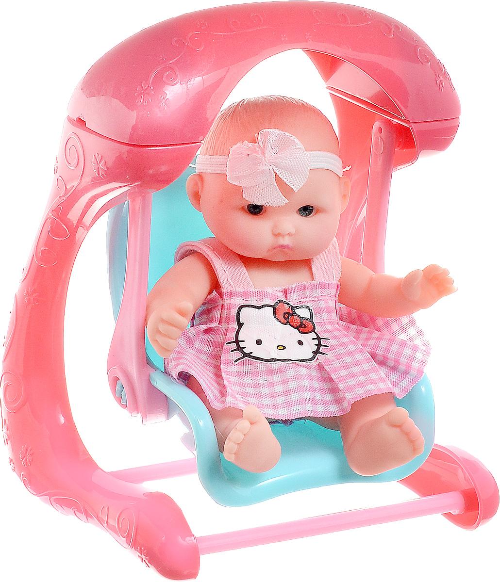 Карапуз Пупс Hello Kitty с аксессуарами 10 см B1118261-RU-HELLO KITTY_на качелях