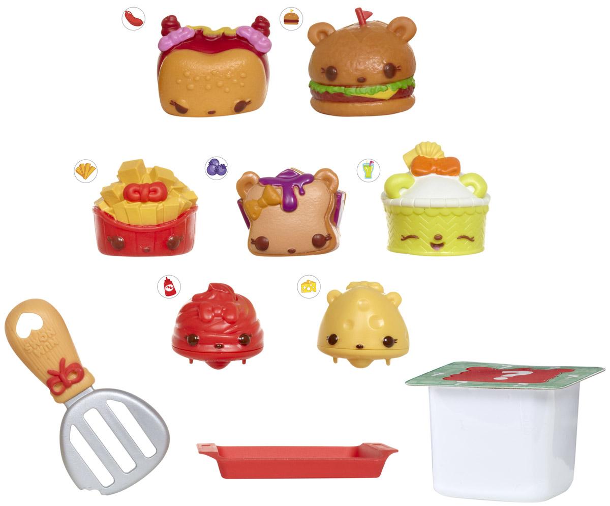 Num Noms Набор фигурок Закусочная 8 шт544456_закусочнаяНабор фигурок Num Noms Закусочная - это уникальная возможность создавать замечательные ароматные композиции из забавных игрушек, изображающих различные вкусности! Каждая фигурка имеет свой вкусный запах, а комбинируя сразу несколько Num Noms, можно получить уникальный и неповторимый микс! Одной из особенностей этих милых изделий является то, что основа способна передвигаться при нажатии на специальную кнопочку, а это лишь добавит веселья игровому процессу. Набор из восьми фигурок Num Noms также включает в себя интересные аксессуары, изображающие кухонные принадлежности. Они, вне всякого сомнения, тоже смогут привнести в процесс игры массу веселых моментов!