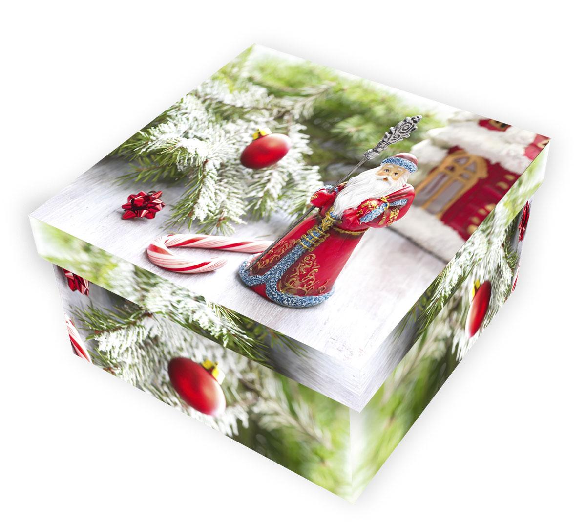 Коробка подарочная Proffi Home Дед Мороз, 12 х 22 х 22 смPH7826Большие картонные коробки идеально подходят для упаковки объемных подарков. Коробка изготовлена из плотного цветного картона.