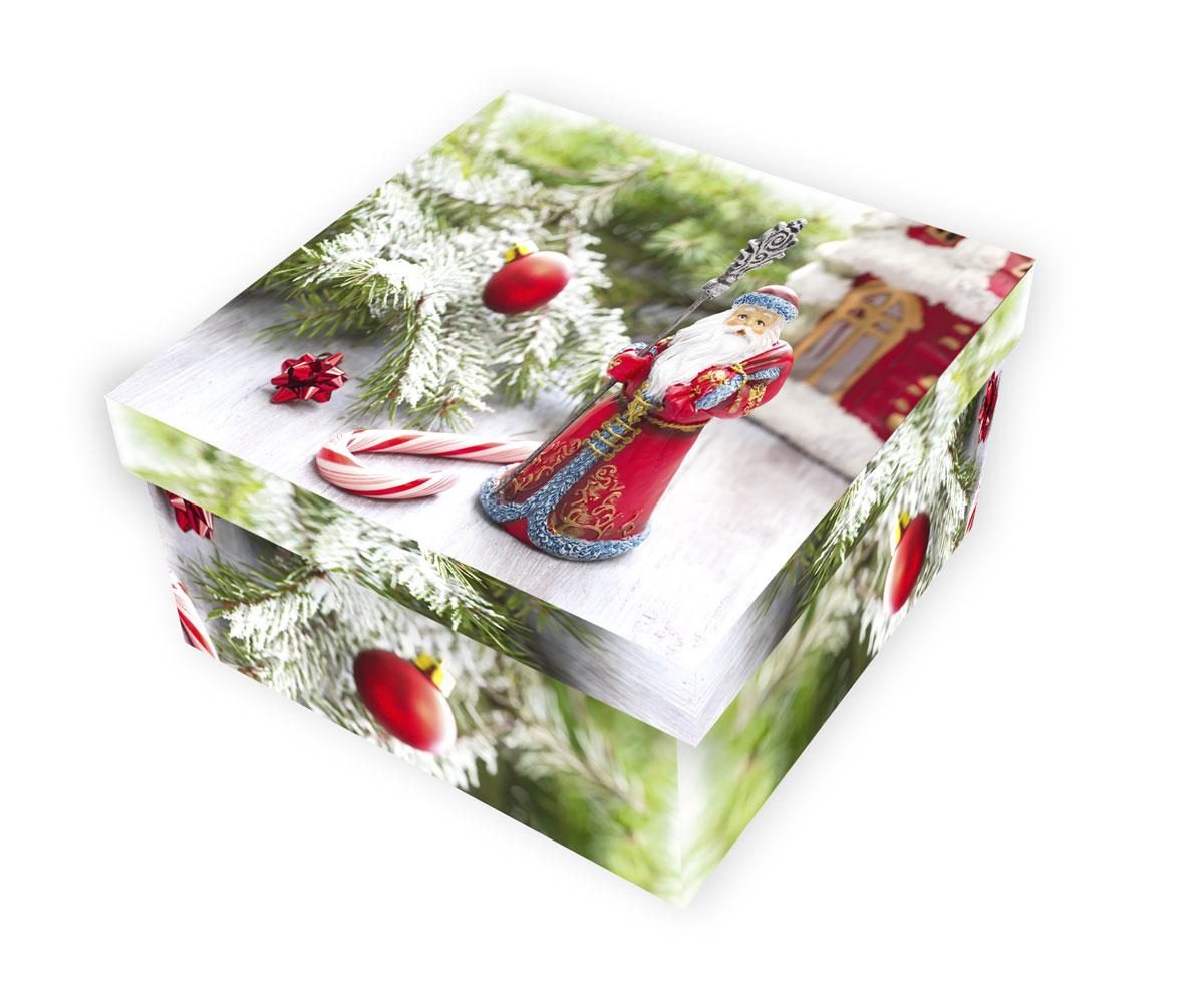 Коробка подарочная Proffi Home Дед Мороз, 10 х 19 х 19 смPH7827Большие картонные коробки идеально подходят для упаковки объемных подарков. Коробка изготовлена из плотного цветного картона.