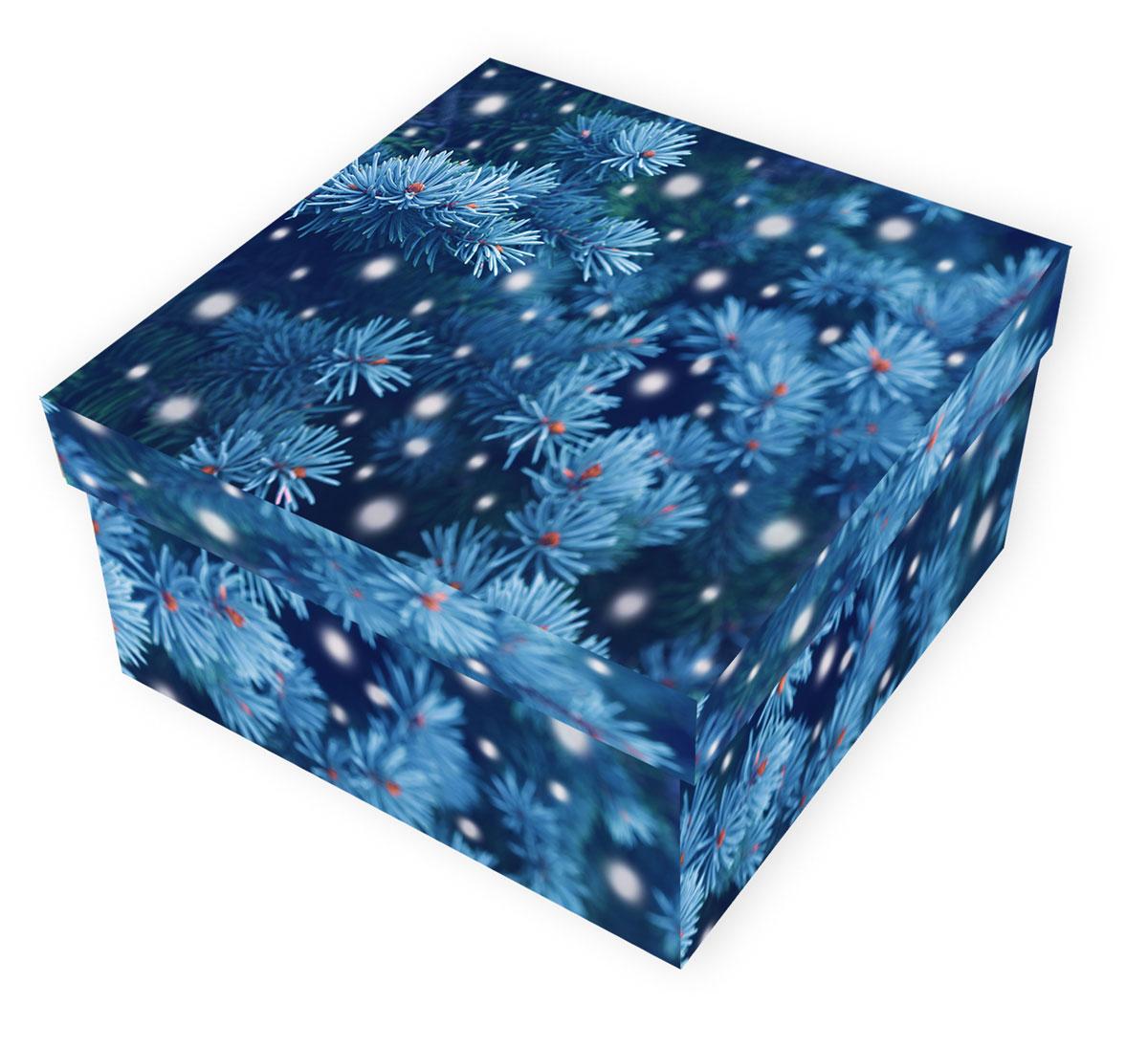 Коробка подарочная Proffi Home Снежная ель, 12 х 22 х 22 смPH7828Большие картонные коробки идеально подходят для упаковки объемных подарков. Коробка изготовлена из плотного цветного картона.