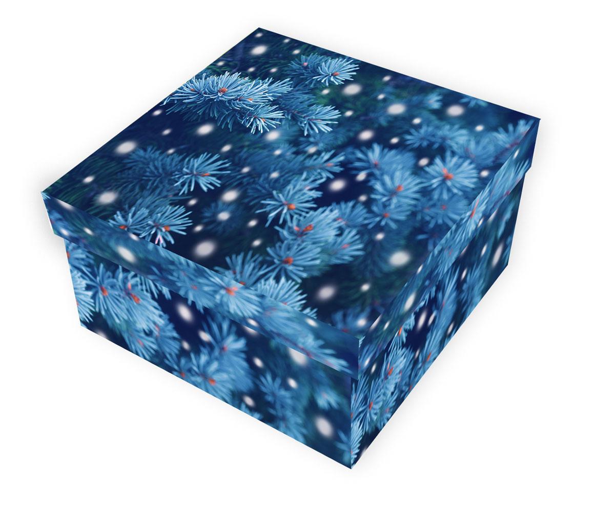 Коробка подарочная Proffi Home Снежная ель, 10 х 19 х 19 смPH7829Большие картонные коробки идеально подходят для упаковки объемных подарков. Коробка изготовлена из плотного цветного картона.