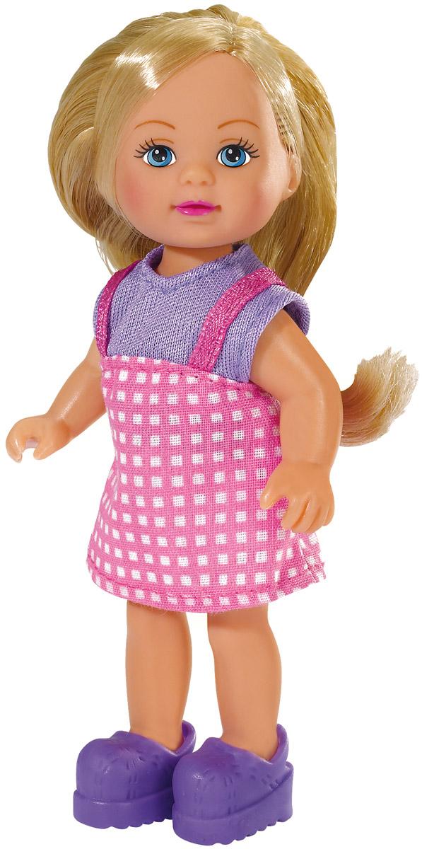 Simba Мини-кукла Еви в летней одежде5737988Кукла Simba Еви в летней одежде порадует любую девочку и надолго увлечет ее. Малышка Еви одета в чудесный летний наряд, на ногах у нее - ботиночки. Вашей дочурке непременно понравится заплетать длинные белокурые волосы куклы, придумывая разнообразные прически. Руки, ноги и голова куклы подвижны, благодаря чему ей можно придавать разнообразные позы. Игры с куклой способствуют эмоциональному развитию, помогают формировать воображение и художественный вкус, а также разовьют в вашей малышке чувство ответственности и заботы. Великолепное качество исполнения делают эту куколку чудесным подарком к любому празднику. Уважаемые клиенты! Обращаем ваше внимание на ассортимент в дизайне товара. Поставка возможна в одном из вариантов нижеприведенных дизайнов, в зависимости от наличия на складе.