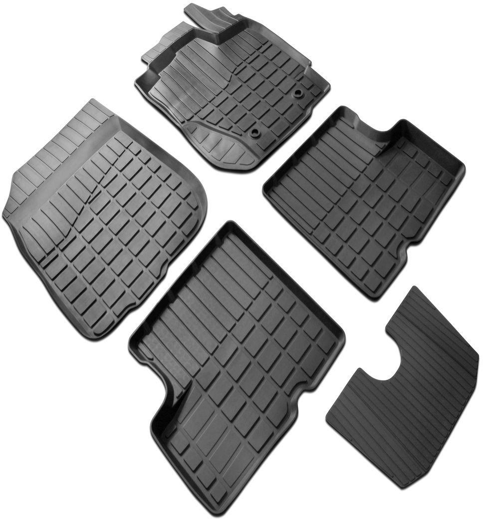 Ковры салона литьевые Rival для Renault Duster 2WD 2010-2015, Nissan Terrano 2WD2014-2016, 4 шт + перемычка0064701001Автомобильные ковры салона Rival Современная версия ковров для автомобилей, изготовлены из высококачественного и экологичного сырья с использованием технологии высокоточного литься под давлением, полностью повторяют геометрию салона вашего автомобиля. - Усиленная зона подпятника под педалями защищает наиболее подверженную истиранию область. - Надежная система крепления, позволяющая закрепить коврик на штатные элементы фиксации, в результате чего отсутствует эффект скольжения по салону автомобиля. - Высокая стойкость поверхности к стиранию. - Специализированный рисунок и высокий борт, препятствующие распространению грязи и жидкости по поверхности ковра. - Перемычка задних ковров в комплекте предотвращает загрязнение тоннеля карданного вала. - Произведены из первичных материалов, в результате чего отсутствует неприятный запах в салоне автомобиля. - Высокая эластичность, можно беспрепятственно эксплуатировать при температуре от -45 ?C до +45 ?C.