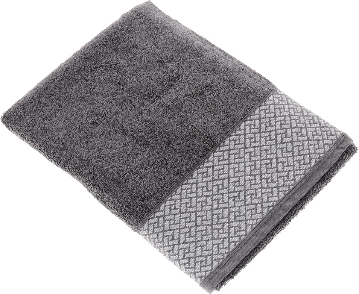 Полотенце Tete-a-Tete Лабиринт, цвет: серый, 50 х 90 смУП-009-03кМахровое полотенце Tete-a-Tete Лабиринт, изготовленное из натурального хлопка, подарит массу положительных эмоций и приятных ощущений. Полотенце отличается нежностью и мягкостью материала, утонченным дизайном и превосходным качеством. Данный дизайн был разработан, как мужская линейка, - строгие насыщенные цвета и геометрический рисунок на бордюре. Полотенце прекрасно впитывает влагу, быстро сохнет и не теряет своих свойств после многократных стирок. Махровое полотенце Tete-a-Tete Лабиринт станет прекрасным дополнением в дизайне ванной комнаты. Полотенце, упакованное в красивую коробку, может послужить отличной идеей подарка.