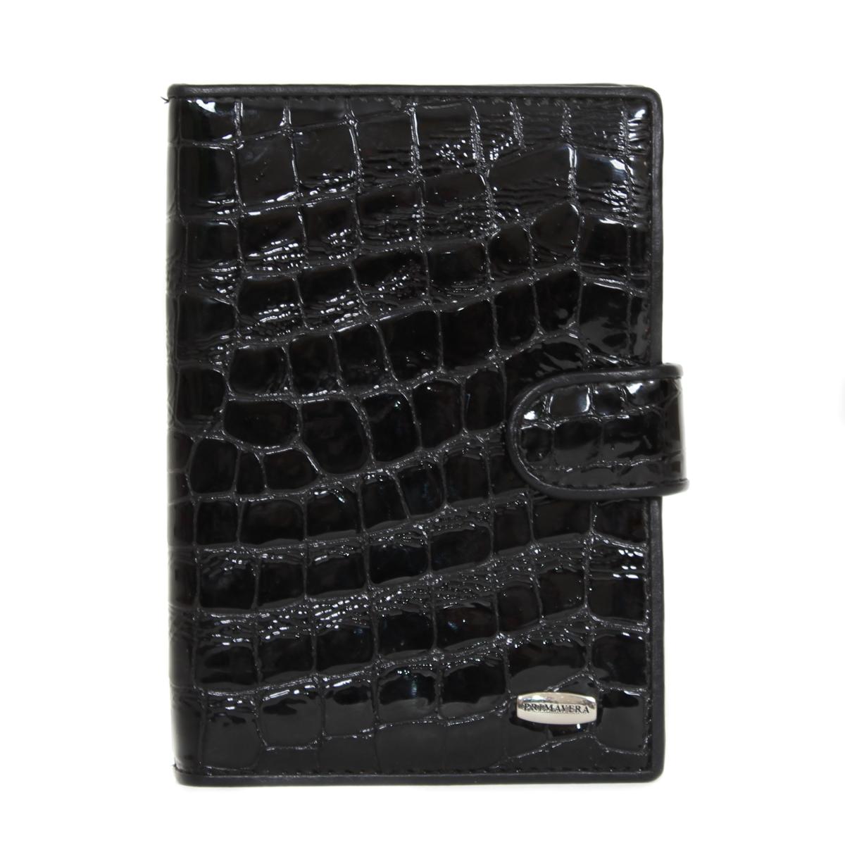 Обложка для документов женская Leighton, цвет: черный. 0005084900050849Обложка на автодокументы и паспорт выполнена из натуральной кожи. Очень удобная и прочная. Закрывается на кнопку.