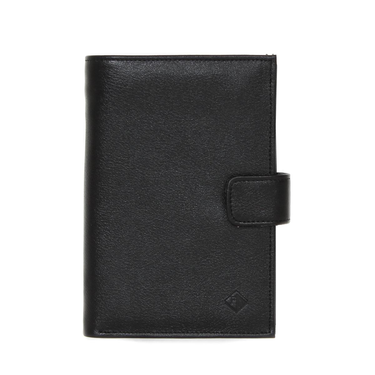 Портмоне мужское Flioraj, цвет: черный. 0005106700051067Портмоне мужское на цупфере с магнитной кнопкой, два отделения для купюр, наборная визитница. Карман на молнии внутри на задней стенке. Отделение с вкладышем для паспорта.
