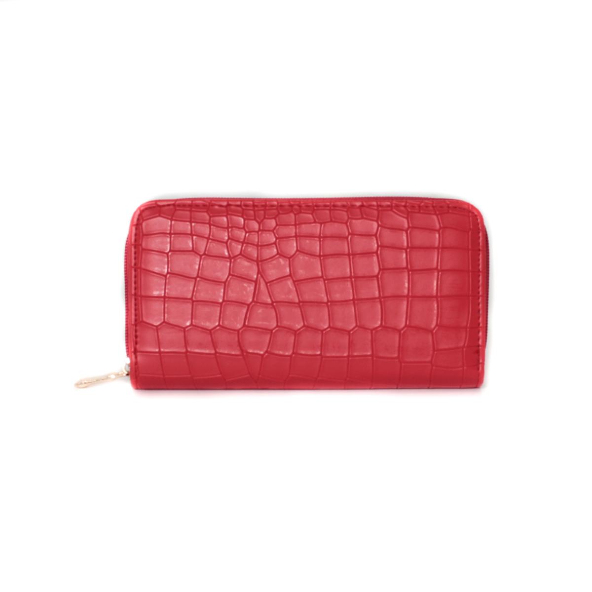 Кошелек женский Leighton, цвет: красный. 0005308400053084Закрывается на молнию. Внутри есть кармашки для карточек и визиток, два отделения для купюр и одно отделение на молнии.