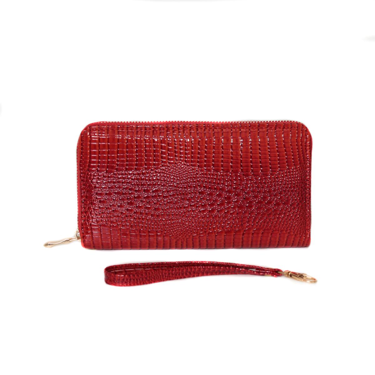 Кошелек женский Leighton, цвет: красный. 0005308700053087Закрывается на молнию. Внутри два отделения для купюр, одно отделение на молнии. Имеются карманы для карточек и визиток.