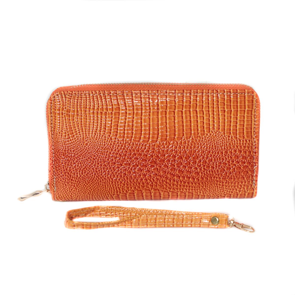 Кошелек женский Leighton, цвет: коричневый. 0005308900053089Закрывается на молнию. Внутри два отделения для купюр, одно отделение на молнии. Имеются карманы для карточек и визиток.