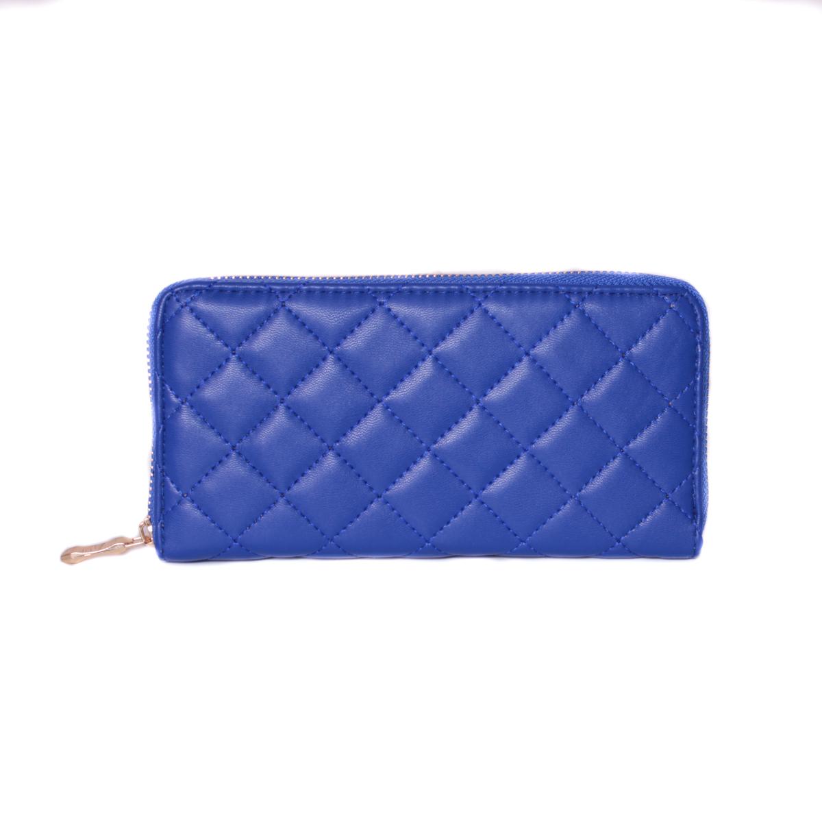 Кошелек женский Leighton, цвет: синий. 0005309600053096Закрывается на молнию. Внутри три отделения для купюр, одно отделение на молнии. Имеются отделения для карточек и визиток.
