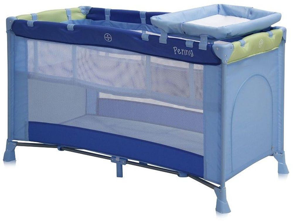 Lorelli Манеж-кроватка Penny 2 цвет синий, зеленый