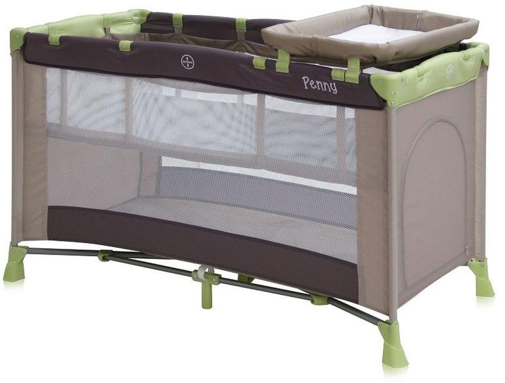 Lorelli Манеж-кроватка Penny 2 цвет бежевый, зеленый