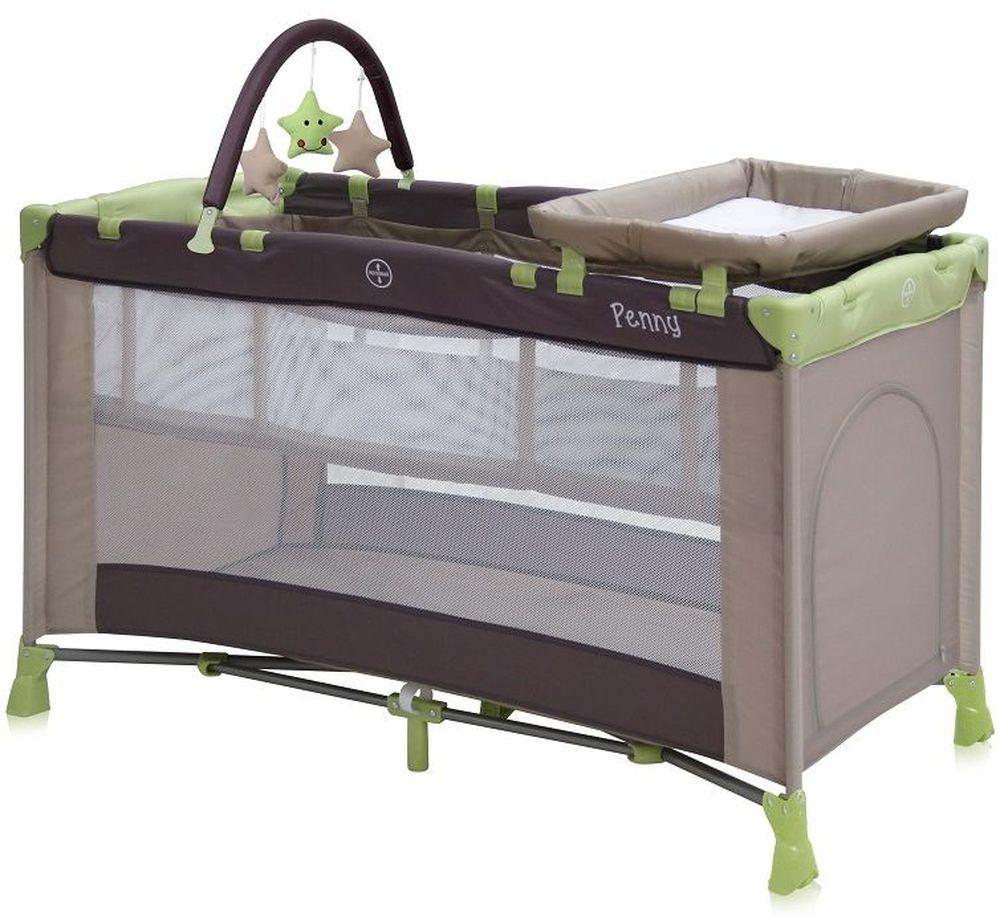 Lorelli Манеж-кроватка Penny 2 Plus цвет бежевый, зеленый