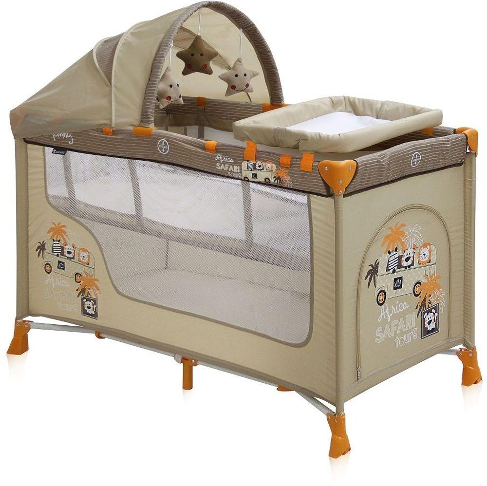 Lorelli Манеж-кроватка Nanny 2 Plus цвет бежевый