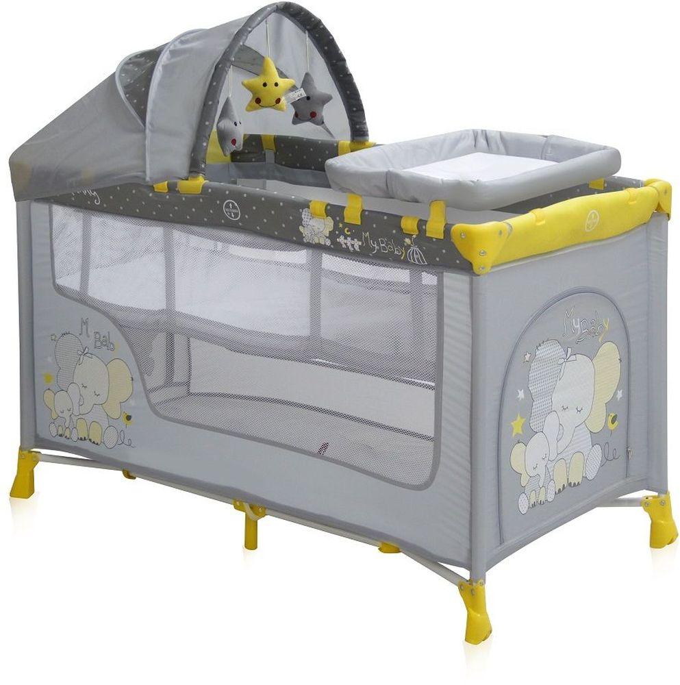 Lorelli Манеж-кроватка Nanny 2 Plus цвет желтый