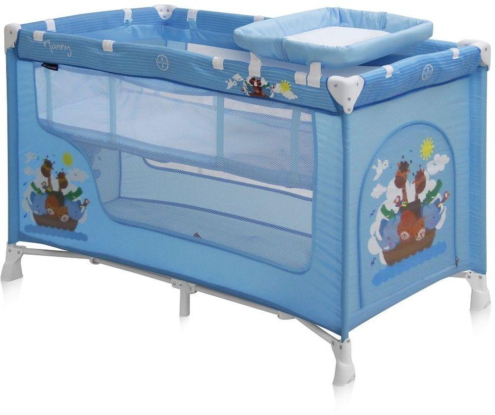 Lorelli Манеж-кроватка Nanny 2 цвет синий