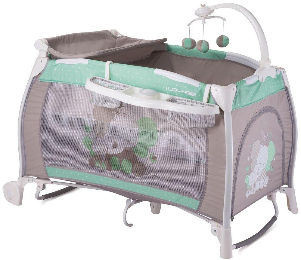 Lorelli Манеж-кроватка I'Lounge 2 Rocker цвет зеленый