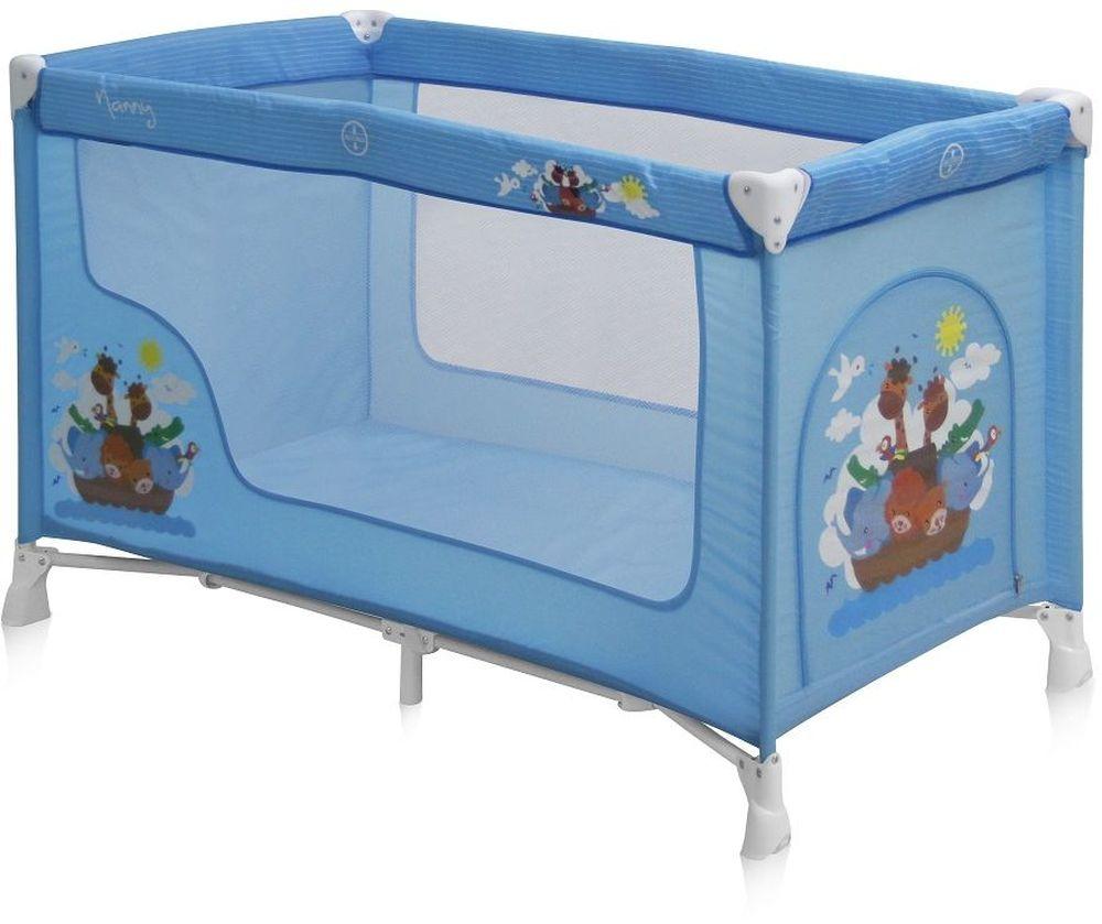 Lorelli Манеж-кроватка Nanny 1 цвет синий3800151932376Детский манеж-кроватка от болгарского бренда Bertoni Nanny 1 – это гарантированный комфорт вашего малыша! Продукция компании сертифицирована и отвечает самым высоким стандартам качества и безопасности эксплуатации, одобрена нормами ЕС. Манеж-кроватка уместен не только в доме, но и на улице. Достоинства детской кроватки-манежа Bertoni Nanny 1: Продукция изготовлена из высококачественных, экологичных материалов с антибактериальным покрытием Дно в Bertoni Nanny 1 имеет 1 уровень Дно жесткое, что гарантирует правильную поддержку спинки ребенка во время сна Bertoni Nanny 1 имеет центральную ножку, которая гарантирует не только дополнительную устойчивость, но и не дает прогибаться дну В сложенном виде конструкция занимает мало места, легко переносится в сумки, которая идет в комплекте. Процесс складывания предельно прост Боковины прозрачные, так что вы всегда будете знать, чем занят ваш малыш Для деток, которые немножко подросли, можно открыть автовыход на торцевой панели Внешние...