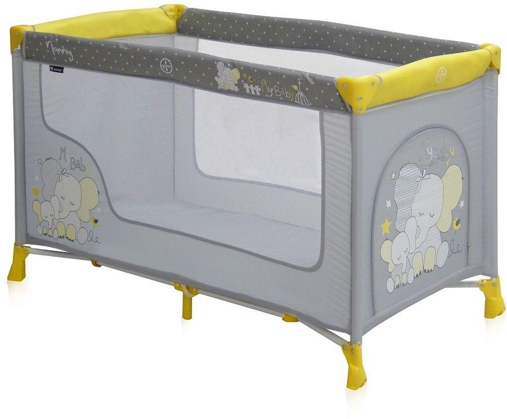 Lorelli Манеж-кроватка Nanny 1 цвет желтый3800151932383Детский манеж-кроватка от болгарского бренда Bertoni Nanny 1 – это гарантированный комфорт вашего малыша! Продукция компании сертифицирована и отвечает самым высоким стандартам качества и безопасности эксплуатации, одобрена нормами ЕС. Манеж-кроватка уместен не только в доме, но и на улице. Достоинства детской кроватки-манежа Bertoni Nanny 1: Продукция изготовлена из высококачественных, экологичных материалов с антибактериальным покрытием Дно в Bertoni Nanny 1 имеет 1 уровень Дно жесткое, что гарантирует правильную поддержку спинки ребенка во время сна Bertoni Nanny 1 имеет центральную ножку, которая гарантирует не только дополнительную устойчивость, но и не дает прогибаться дну В сложенном виде конструкция занимает мало места, легко переносится в сумки, которая идет в комплекте. Процесс складывания предельно прост Боковины прозрачные, так что вы всегда будете знать, чем занят ваш малыш Для деток, которые немножко подросли, можно открыть автовыход на торцевой панели Внешние...