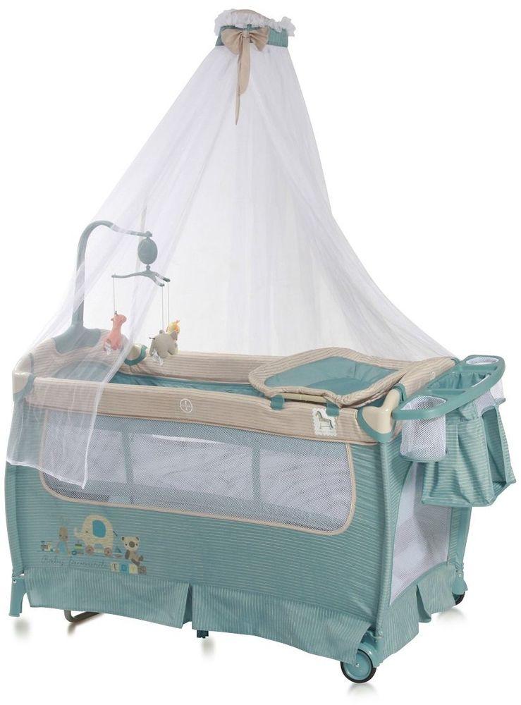 Lorelli Манеж-кроватка SleepNDream Rocker цвет синий