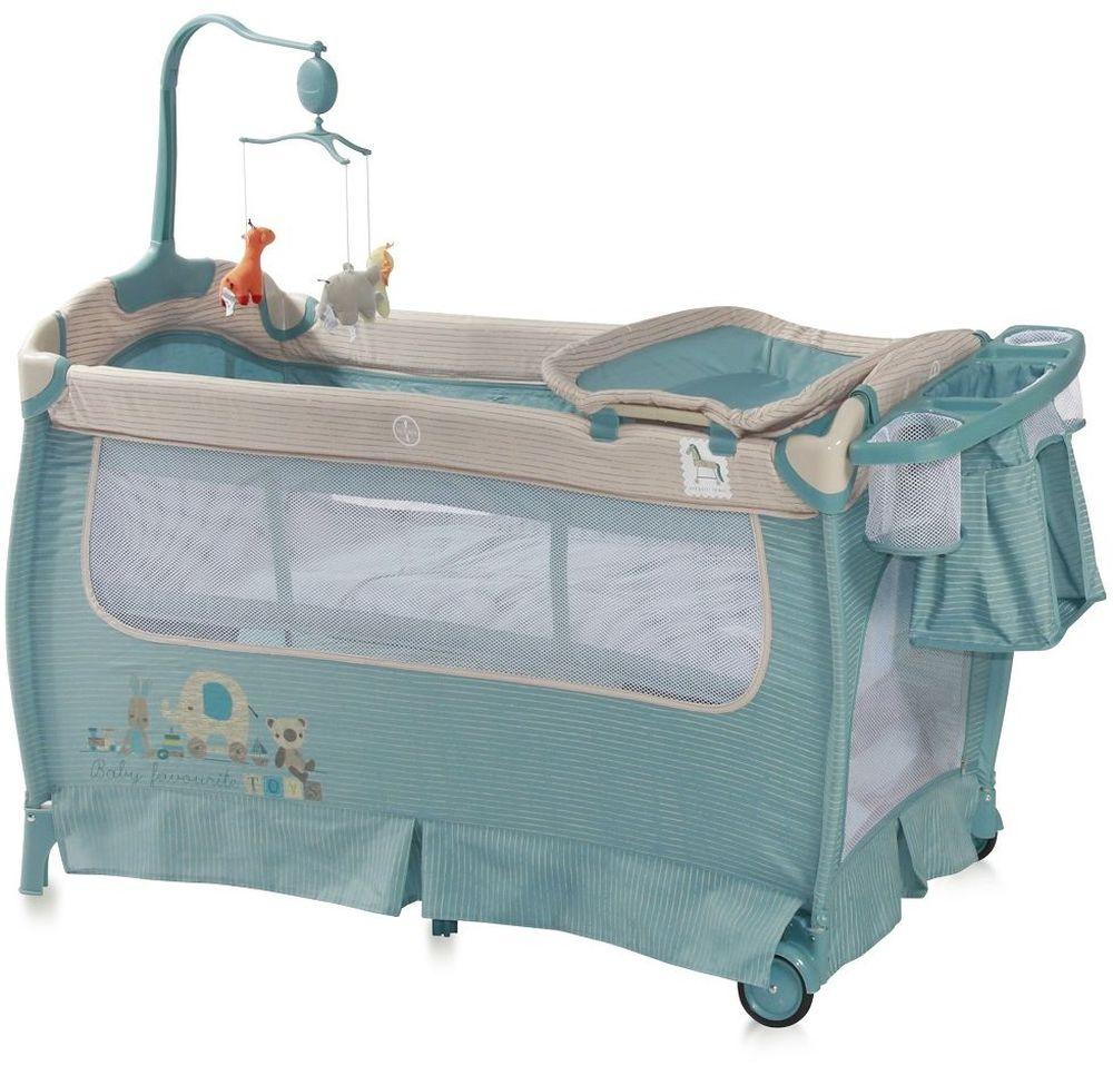 Lorelli Манеж-кроватка SleepNDream цвет синий