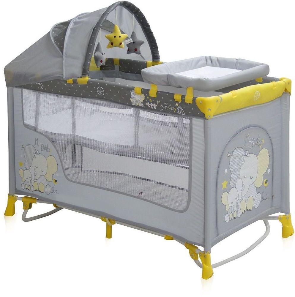 Lorelli Манеж-кроватка Nanny 2 Plus Rocker цвет желтый3800151956822Детский манеж-кроватка от болгарского бренда Bertoni Nanny 2 Plus Rocker – это гарантированный комфорт вашего малыша! Продукция компании сертифицирована и отвечает самым высоким стандартам качества и безопасности эксплуатации, одобрена нормами ЕС. Манеж-кроватка уместен не только в доме, но и на улице. Особенности: Продукция изготовлена из высококачественных, экологичных материалов с антибактериальным покрытием Манеж имеет функцию качания. Дно в Bertoni Nanny 2 имеет 2 уровня: одно для игр, второе для сна Дно жесткое, что гарантирует правильную поддержку спинки ребенка во время сна Bertoni Nanny 2 имеет центральную ножку, которая гарантирует не только дополнительную устойчивость, но и не дает прогибаться дну В сложенном виде конструкция занимает мало места, легко переносится в сумки, которая идет в комплекте. Процесс складывания предельно прост Bertoni Nanny 2 снабжена пеленатором, который устанавливается на борта манежа и еще есть защитный капюшон с дугой и игрушками Боковины...