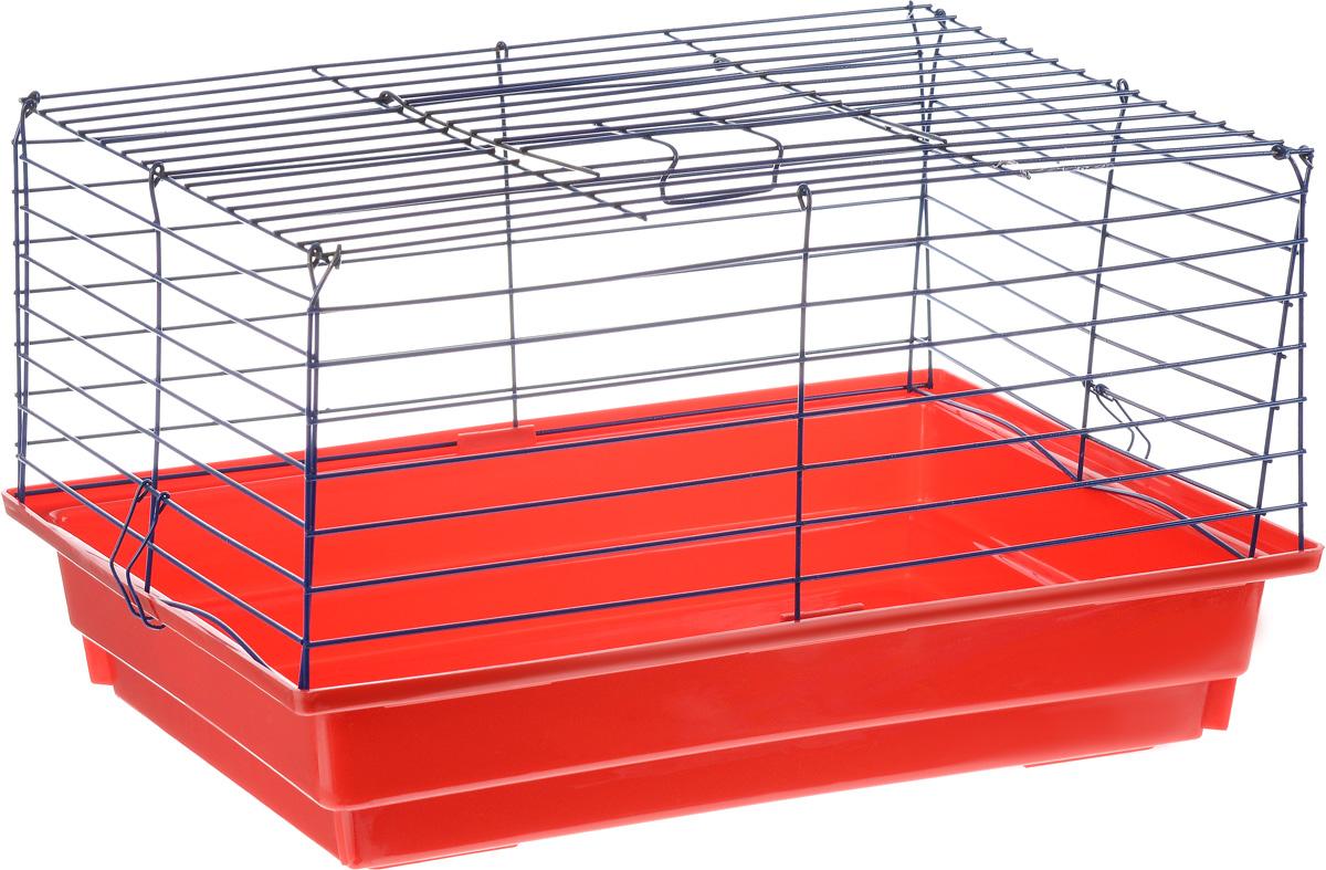 Клетка для кролика ЗооМарк, цвет: красный поддон, синяя решетка, 50 х 35 х 30 см610КСКлассическая клетка ЗооМарк со сплошным дном станет уединенным личным пространством и уютным домиком для кролика. Изделие выполнено из металла и пластика. Клетка надежно закрывается на защелки. Легко чистится. Для более удобной транспортировки клетку можно сложить.