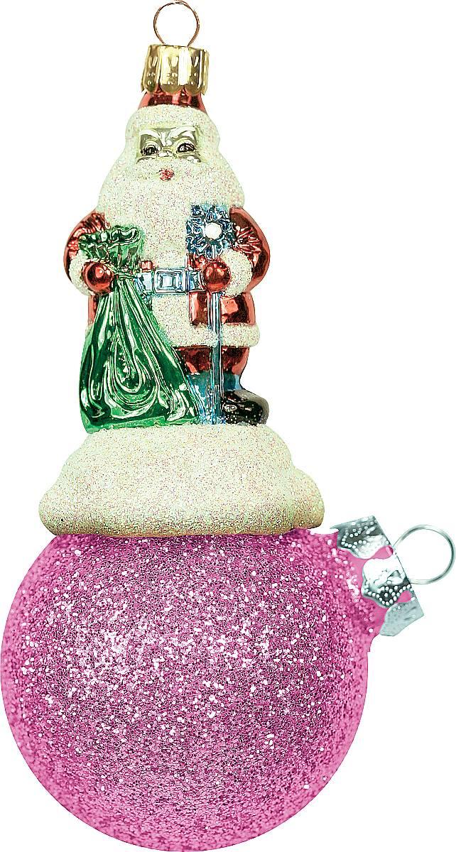 Украшение новогоднее подвесное Mister Christmas Дед Мороз на шаре, цвет: розовый, длина 15 см. BD 80-406BD 80-406Подвесное украшение Mister Christmas Дед Мороз на шаре представляет собой весьма оригинальную елочную игрушку 2 в 1. Это и классический елочный шар, и миниатюрная фигурка Деда Мороза. Изделие выполнено из качественного пластика и отличается прочностью и безопасностью. Украшение Mister Christmas Дед Мороз на шаре - это не просто классическая елочная игрушка. Оно может стать элементом праздничного декора, если установить на специальной подставке. В любом случае такая игрушка будет привлекать внимание и создавать праздничную атмосферу в доме или офисе.